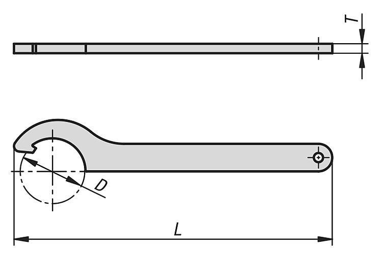 Clé à ergot DIN 1810A extension de gamme - Rubans de précision Etiquettes et pochettes magnétiques Filets de...