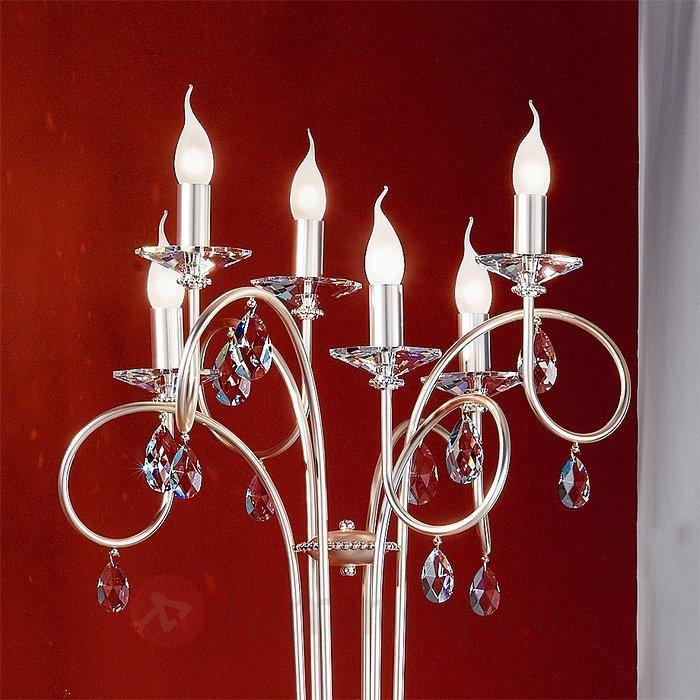 Lampadaire VIOLETTA 6 ampoules, argenté - Tous les lampadaires
