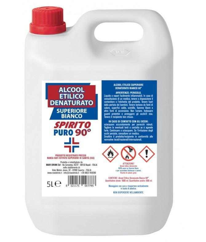 Alcool Etilico Denaturato Superiore Bianco 90° 500 cl - Cosmetici