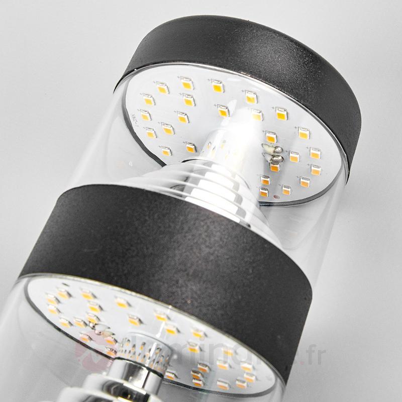 Applique d'extérieur LED intemporelle Lanea, noir - Appliques d'extérieur LED