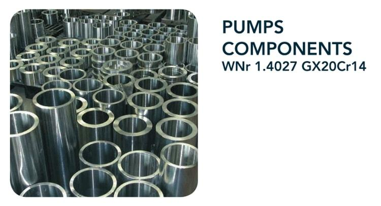 Pump components - Chemical industry