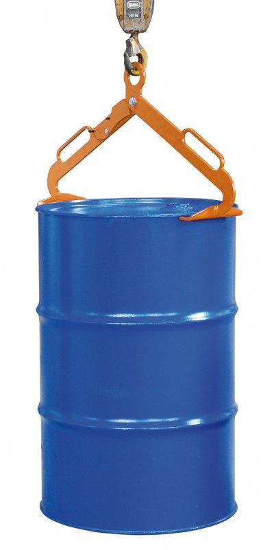 Fasszange Typ LGZ - Zur Aufnahme von stehenden 200-l-Stahl-Spundfässern und Stahl-Deckelfässern