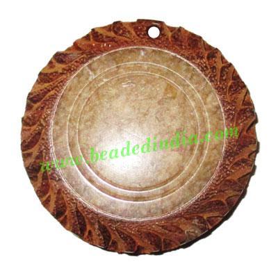 Handmade wooden fancy pendants, size : 42x7mm - Handmade wooden fancy pendants, size : 42x7mm