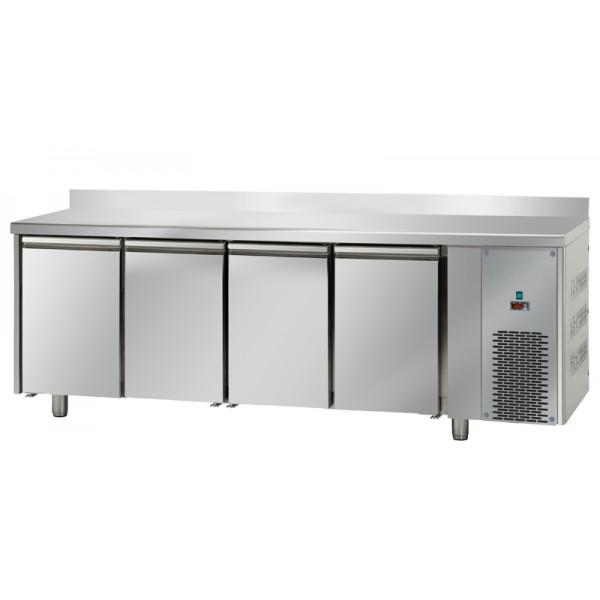 Table réfrigérée 4 portes GN1/1 avec dosseret - Référence TF4SYGNAL