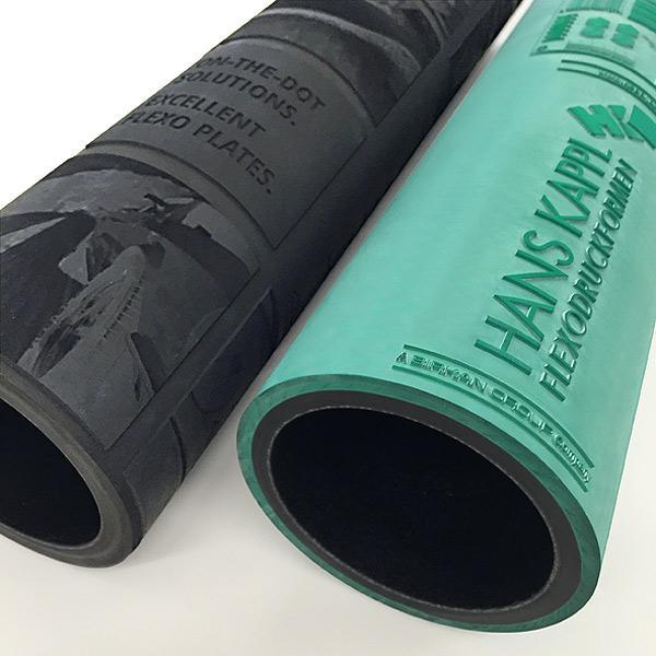 Laser engraved elastomer sleeves - Elastomer sleeves