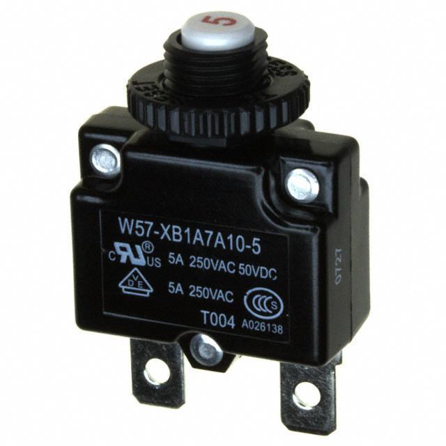 CIR BRKR THRM 5A 250VAC - TE Connectivity Potter & Brumfield Relays W57-XB1A7A10-5