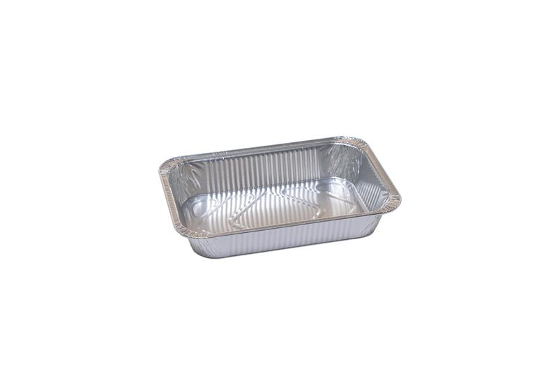 Vaschetta Alluminio Rettangolare 2 Porzioni R48G 100 pz - Non Food - Prodotti monouso e altri prodotti