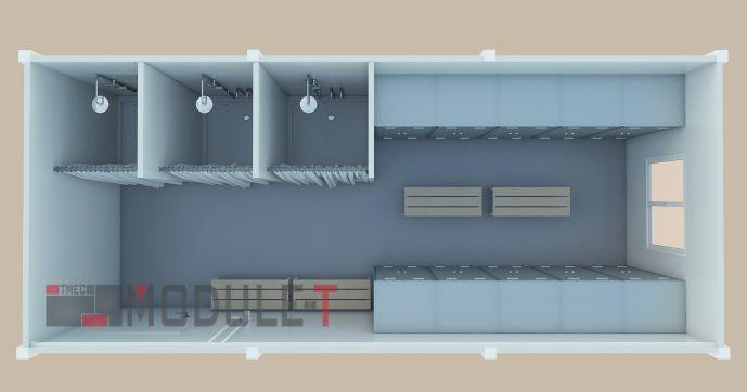 Conteneur Vestiaire - Conteneur de chantier aménagé en vestiaire, vestiaire de chantier