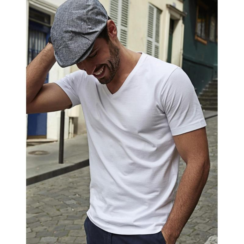 Tee-shirt homme col V Fashion - Manches courtes