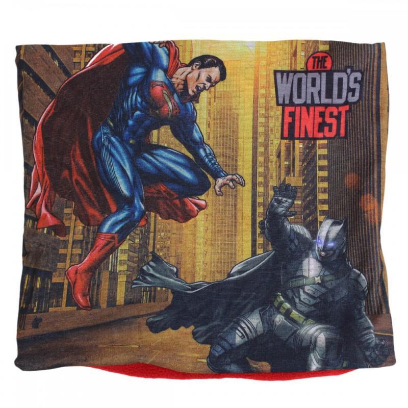 6x Cache-cou Batman-Superman 24x22 - Bonnet Gant Echarpe