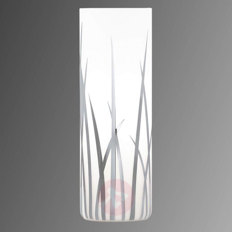 Rivato - cylindrical table lamp with grass pattern - indoor-lighting