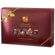 EMOTI Dark Chocolates, La Flambee 189g (bow decorated). SKU: -