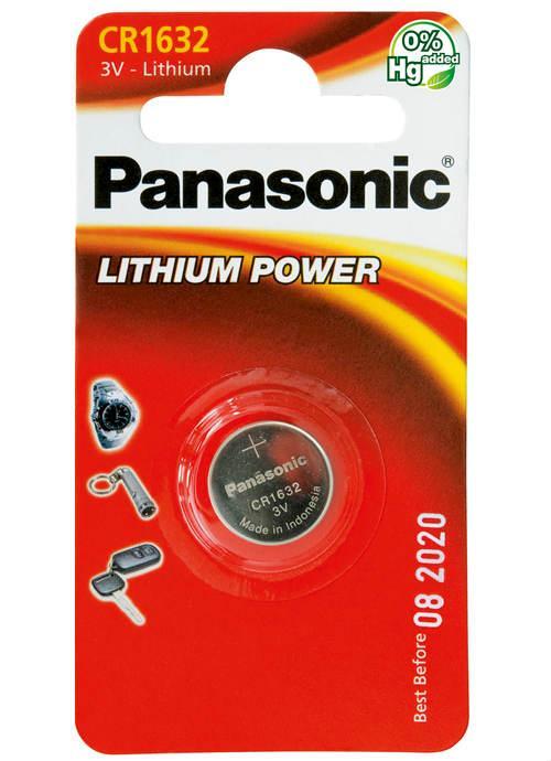 Batterie al litio a bottone CR1632 - CR-1632EL/1BP | Blister da 1 microbatteria specialistica Panasonic