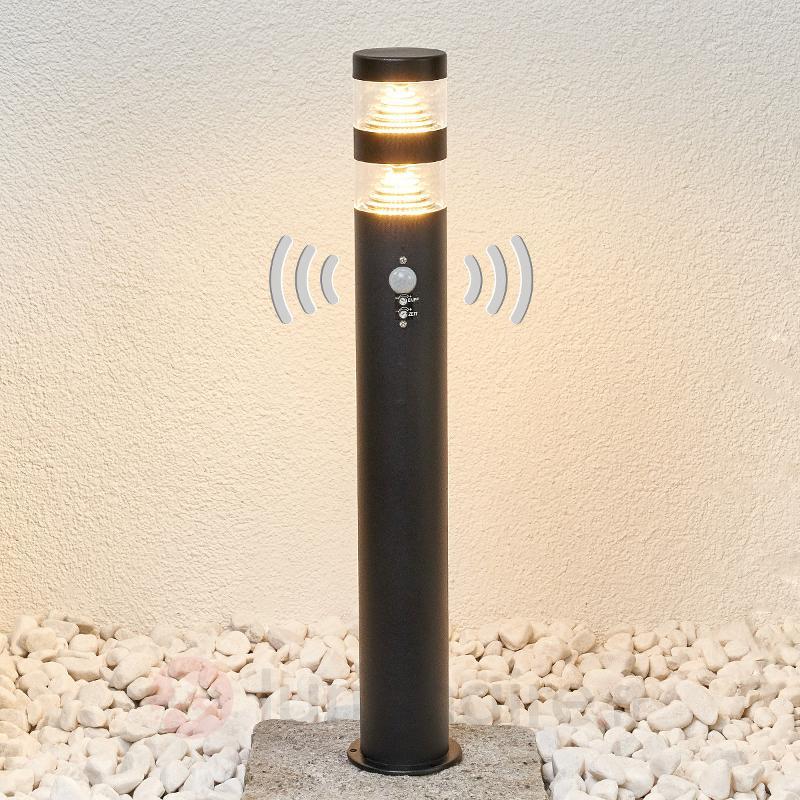 Borne lumineuse LED moderne à détecteur Lanea - Bornes lumineuses avec détecteur