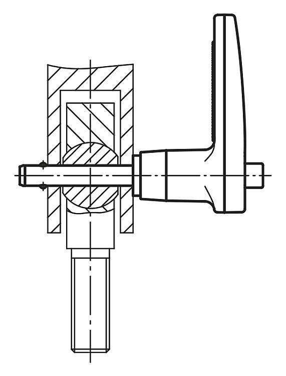 Ball Lock Pins with L-grip, self-locking - K0642