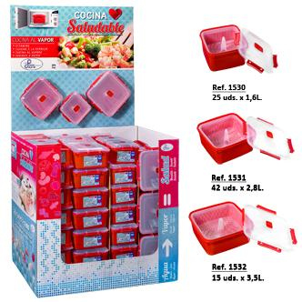 BOX - SQUARE FOOD CONTAINER STEAMING