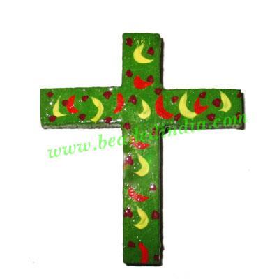 Handmade wooden cross (christian) pendants, size : 55x48x6mm - Handmade wooden cross (christian) pendants, size : 55x48x6mm