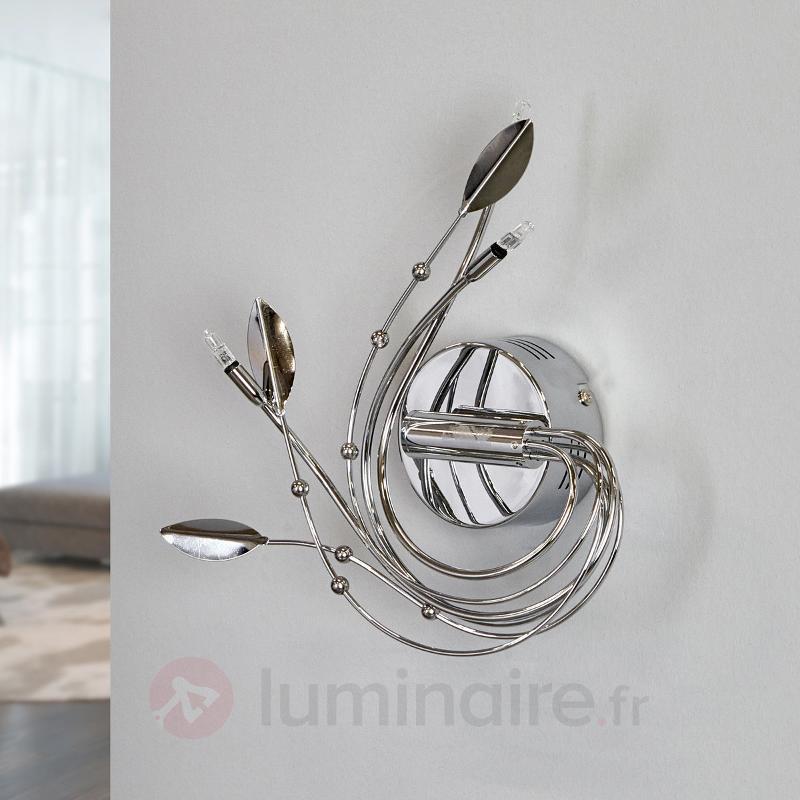 Romane, une applique de style floral - Appliques chromées/nickel/inox