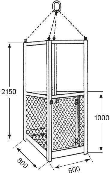 Nacelles de levage - Nacelle de travail pour 1 personne type NA-1