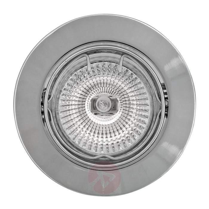High volt recessed spotlight MAL chrome - High-Voltage Spotlights