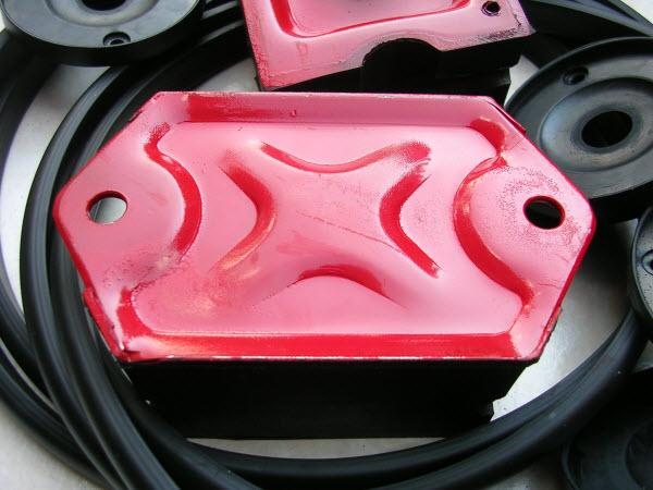 Custom molded rubber-metal parts