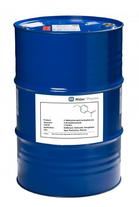 4'-(Methylmercapto)-acetophenone - 4-(Acetyl)thioanisole; 1778-09-2; IM for Elafibranor, Rofecoxib, Saroglitazar