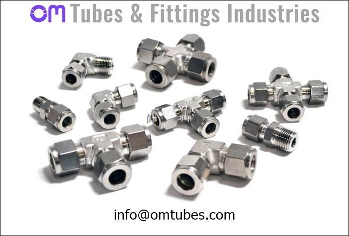 254 SMO Tube Fittings - 6 Mo Fittings UNS S31254 1.4547 F44 Compression Ferrule Instrumentation