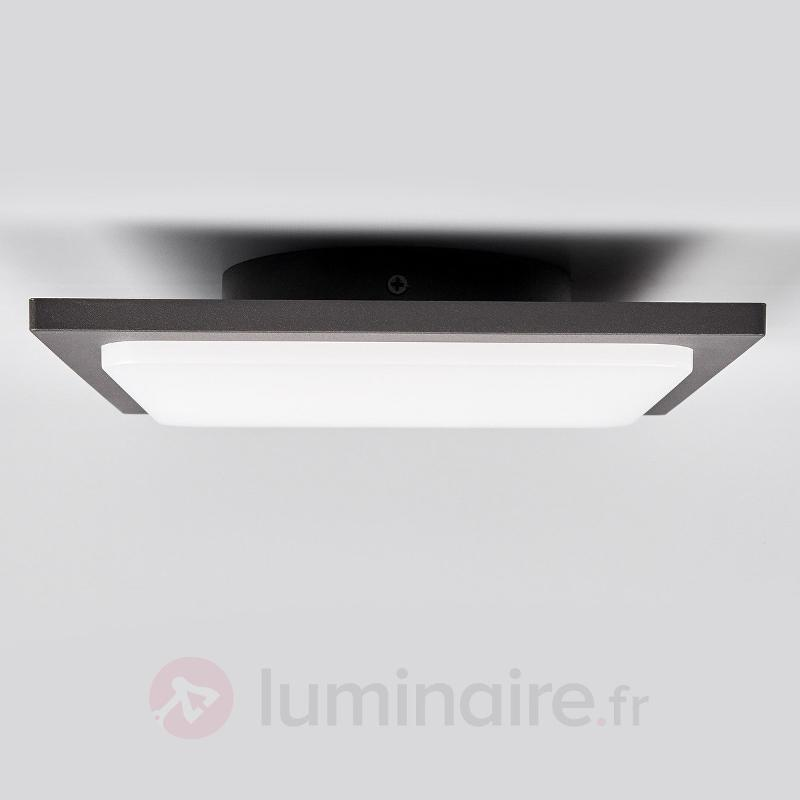 Plafonnier en aluminium Veena anthracite avec LED - null