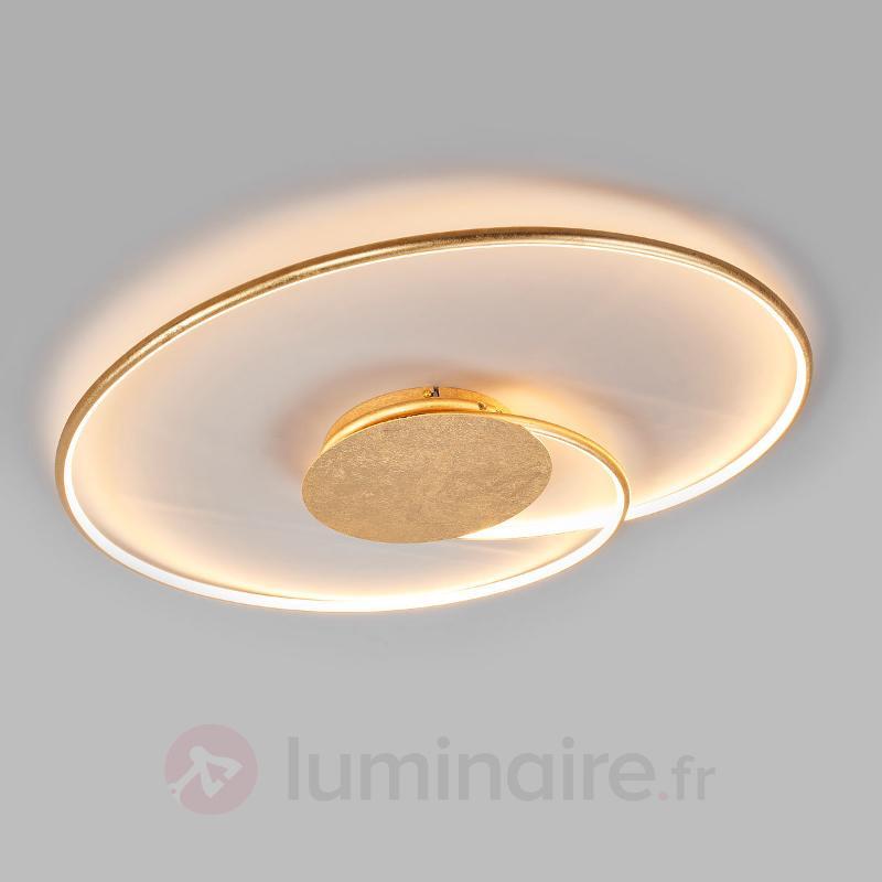 Élégant plafonnier LED Joline, doré - Plafonniers LED