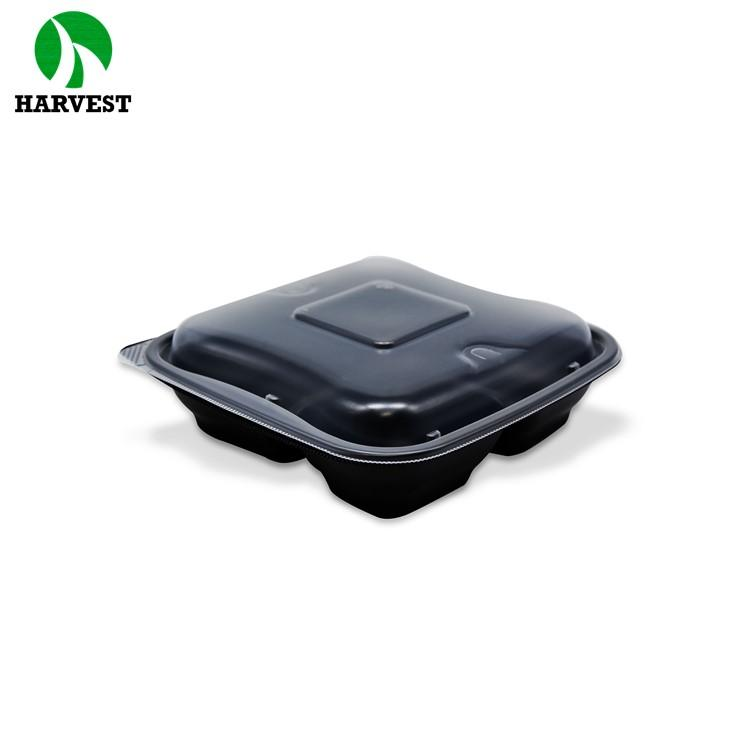 Disposable Leak Proof Pp 3 Compartment Takeaway Plastic Food Box - Hot Food Containers