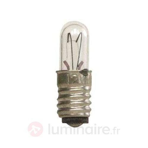 Pack de 5 lampes claires E5 0,4W 12V - Ampoules à l'unité