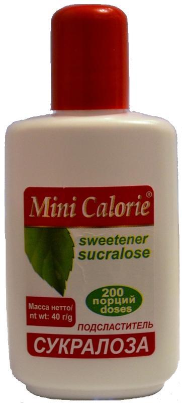 Sweetener sucralose 40 g - Sweetener sucralose MINI CALORIE 40 g
