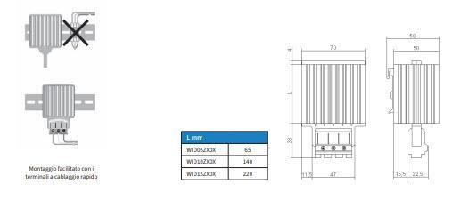 Wid05÷15zx0x Riscaldatori Anticondensa - LINEA CLIMATIZZAZIONE