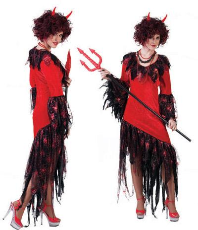 Costume sorcière rouge - null