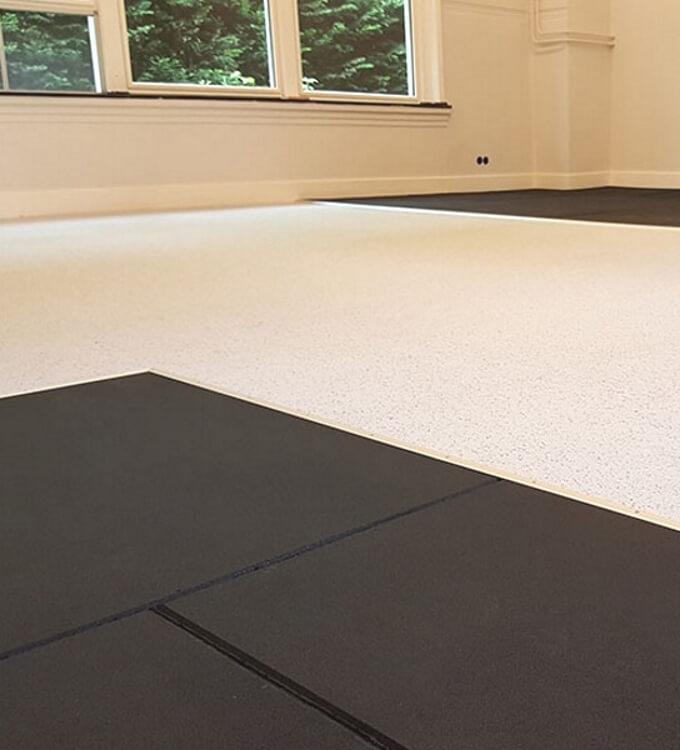 Fitnessvloer - Fraaie onderhoudsarme en bestendige fitnessvloeren met een lange levensduur