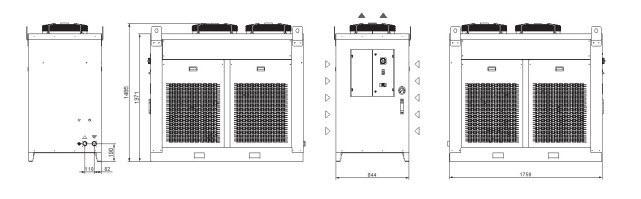 Tcwb2÷c8 Grandezza 4 Refrigeratori Industriali Per Acqua - LINEA REFRIGERAZIONE