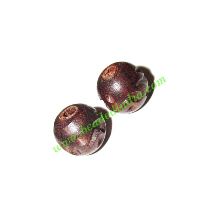 Rosewood Beads, Handcrafted designs, size 9mm, weight approx - Rosewood Beads, Handcrafted designs, size 9mm, weight approx 0.66 grams