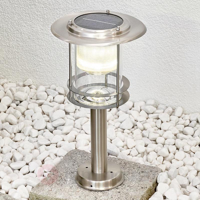 Borne lumineuse LED solaire Liss en inox - Toutes les lampes solaires