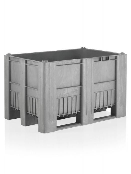 Palet Box CB1 - Palet Box, Moldeado por inyección de una sola pieza con tres patines/travesaños