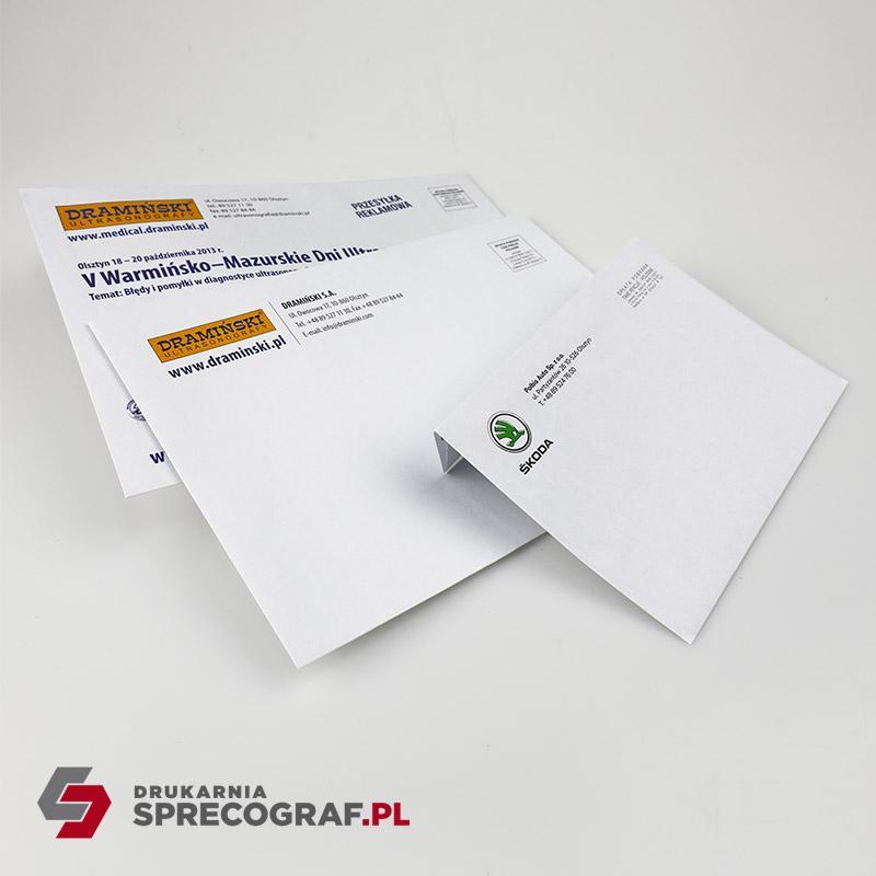 Koperty firmowe i torby papierowe z nadrukiem - Standardowe formaty kopert C6, C5, C4, DL