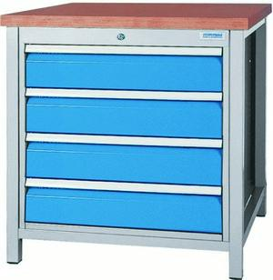 Workbench with 1x cabinet series 700 - 03.075.04VA
