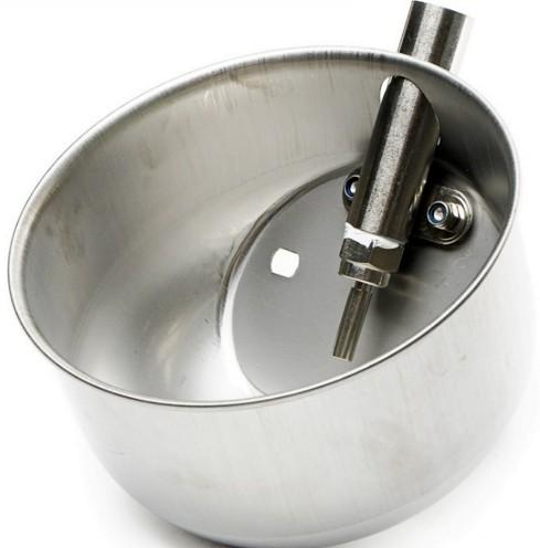 pig drinking bowl of  21cm stainless steel  - Stainless water bowl for pig