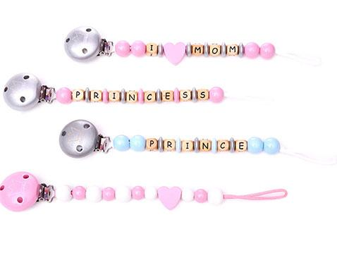 Pacifier Chain Clips made of wood - null