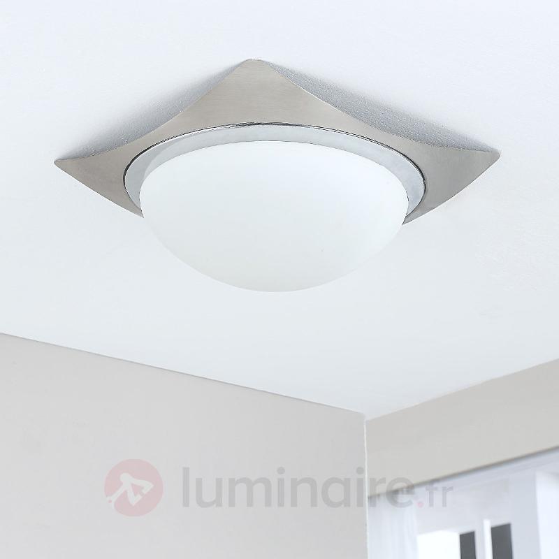 Fabiane - plafonnier en verre et métal, LED E27 - Plafonniers LED