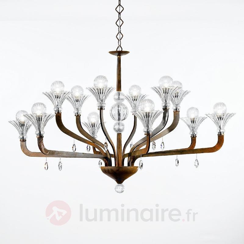 Imposant lustre SUPREME à 12 lampes - Lustres designs, de style