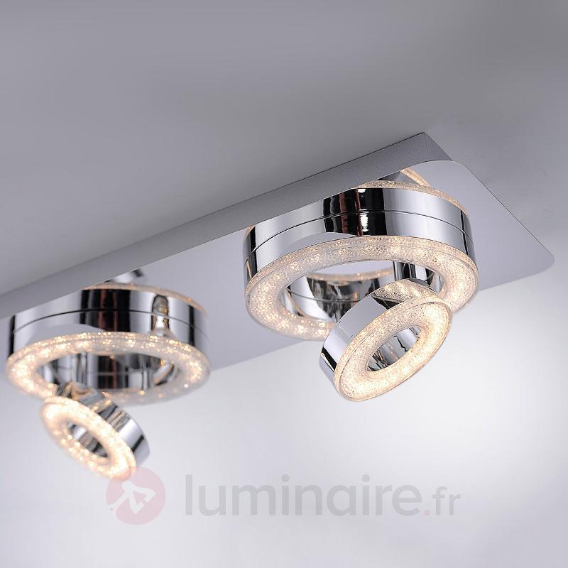 Plafonnier LED chatoyant Tim, 40 cm de long - Plafonniers LED