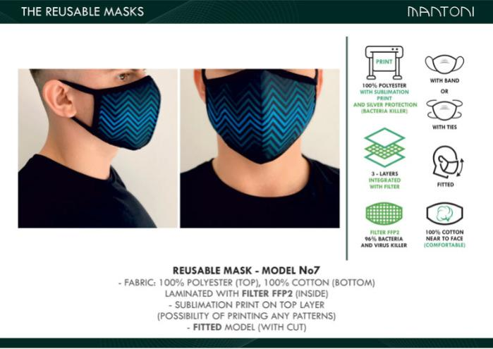 REUSABLE FACE MASKS MADE IN EUROPE - WITH RE-WASHABLE INTEGRATED FILTER