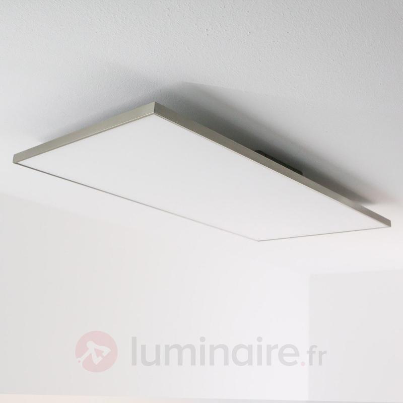 Panneau carré Rory avec LED, 80 cm - Plafonniers LED