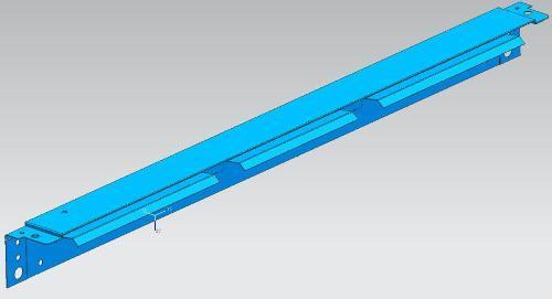 Refrigerator lower front beam progressive mold - Refrigerator lower front beam