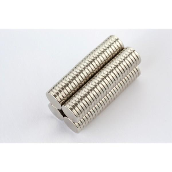 Neodymium disc magnet 10x1,5mm, N42, Ni-Cu-Ni, Nickel coated - Disc